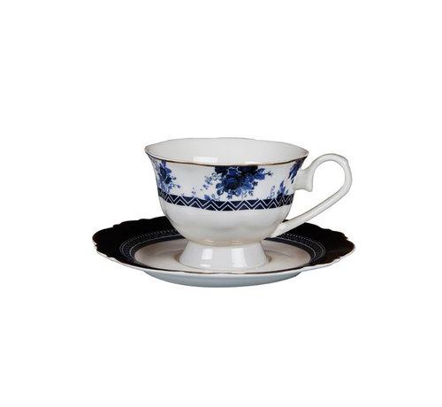 Bricard Bron koffieset - Paris- Blauw 12-delig