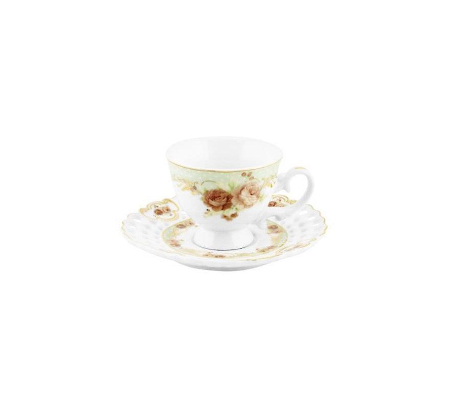 Bricard espresso set - Reims - Groen 12-delig