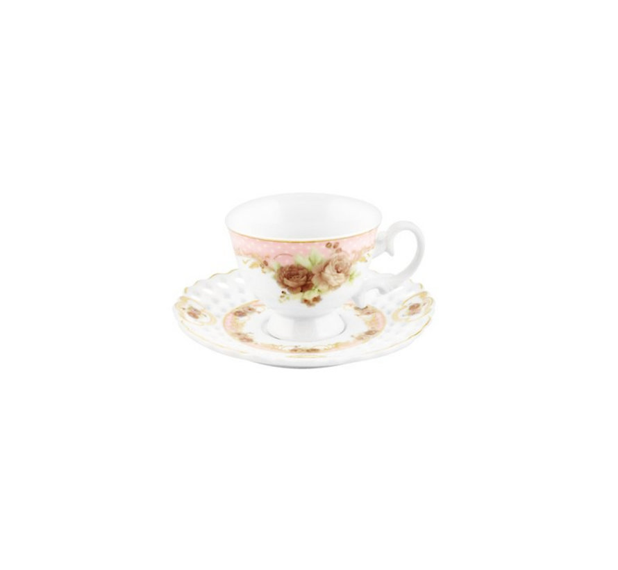 Bricard espressoset - Reims - Pink 12-delig