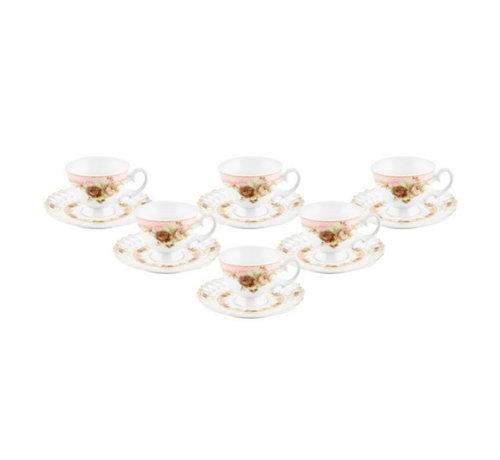 Bricard Bricard espressoset - Reims - Pink 12-delig