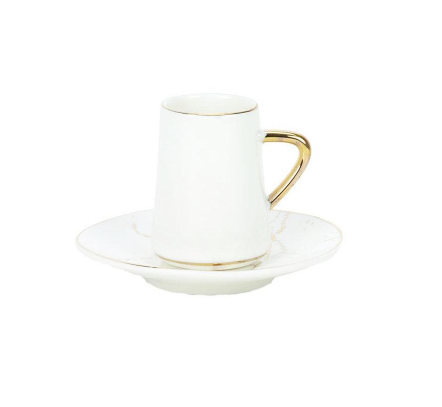 Bricard espresso set - Avignon - White 12-delig