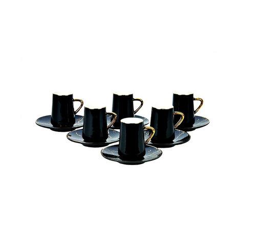 Bricard Bricard espresso set - Avignon - Black 12-delig