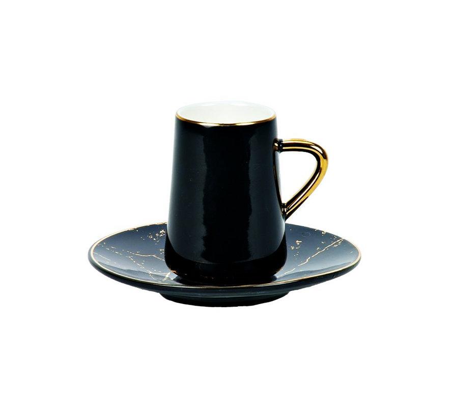 Bricard espresso set - Avignon - Black 12-delig
