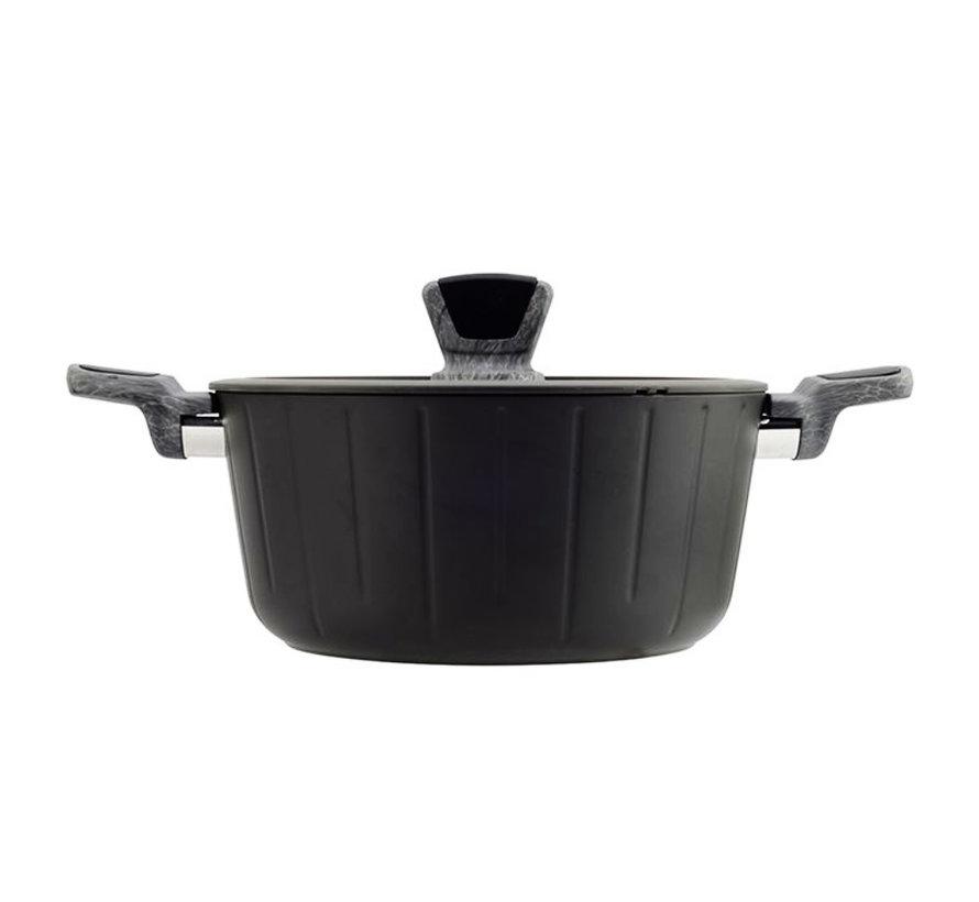Pan Incl. Deksel - Zwart - 2 Maten