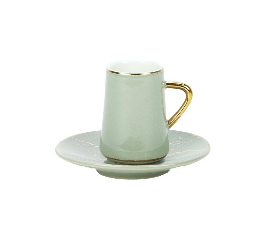 Bricard espresso set - Avignon - Grey 12-delig