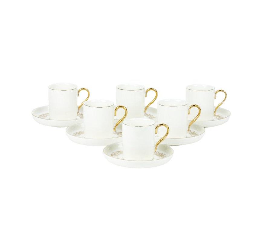 Bricard espresso set - Poitiers - White 12-delig