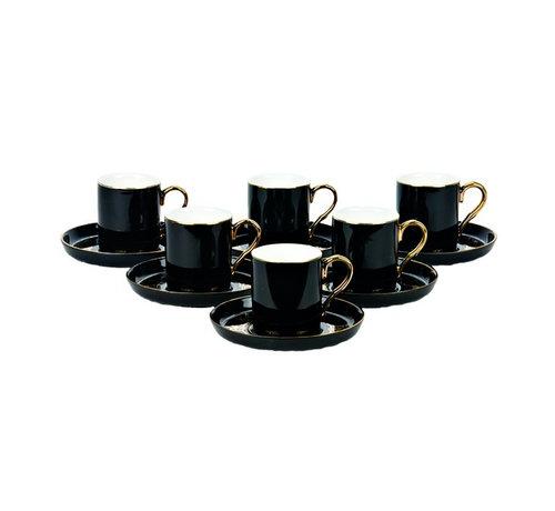 Bricard Bricard espresso set - Poitiers - Black 12-delig