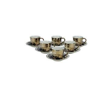 Bricard Bricard espresso set - Bologna -  Dark Gold 12-delig
