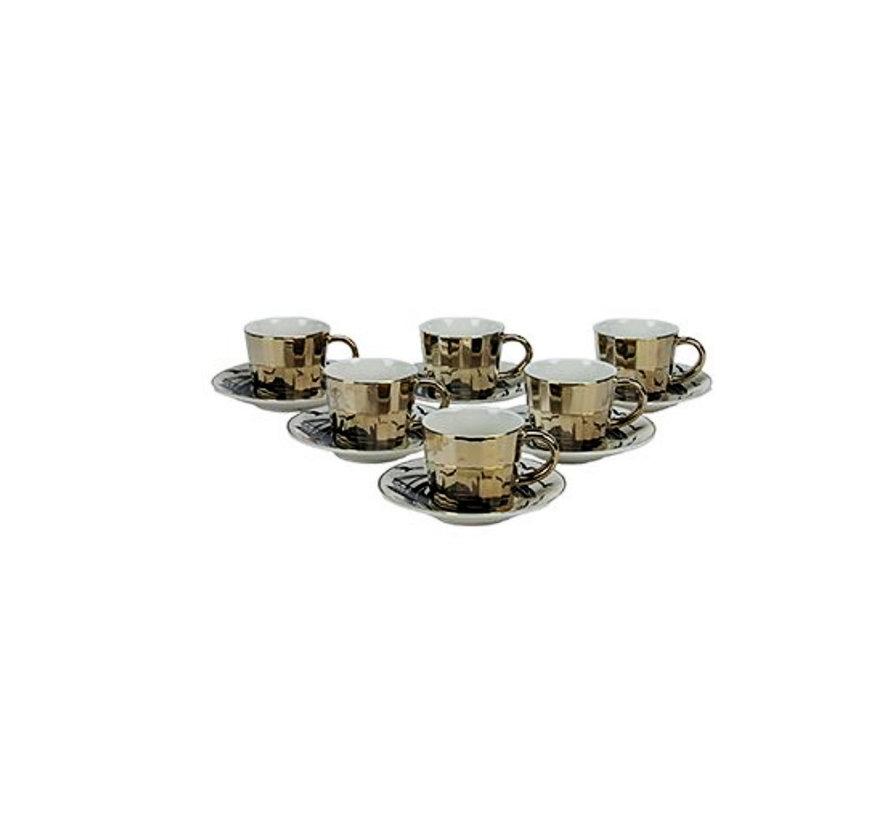 Bricard espresso set - Bologna -  Dark Gold 12-delig