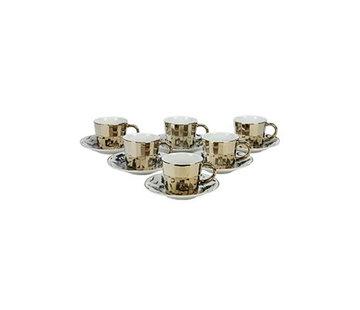 Bricard Bricard espresso set - Bologna -  Light Gold 12-delig