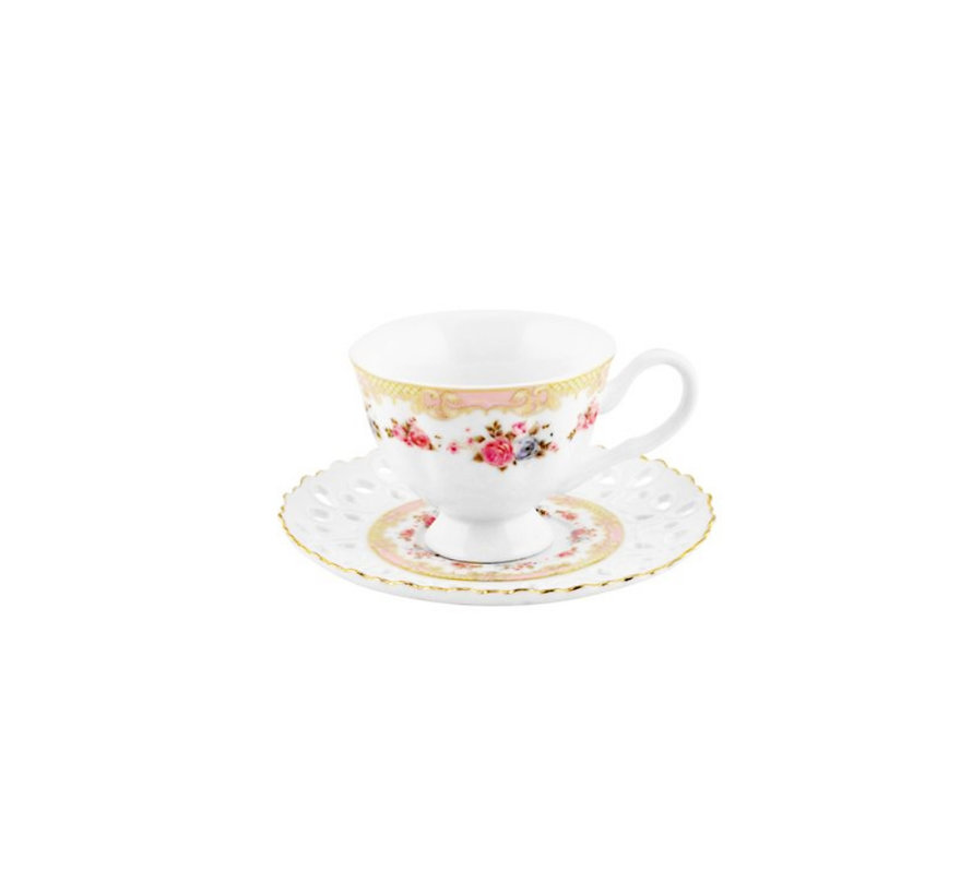 Bricard espresso set - Lucca - Pink 12-delig