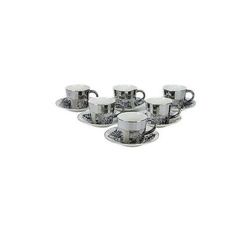 Bricard Bricard koffie set - Malia - Dark Gold 12-delig