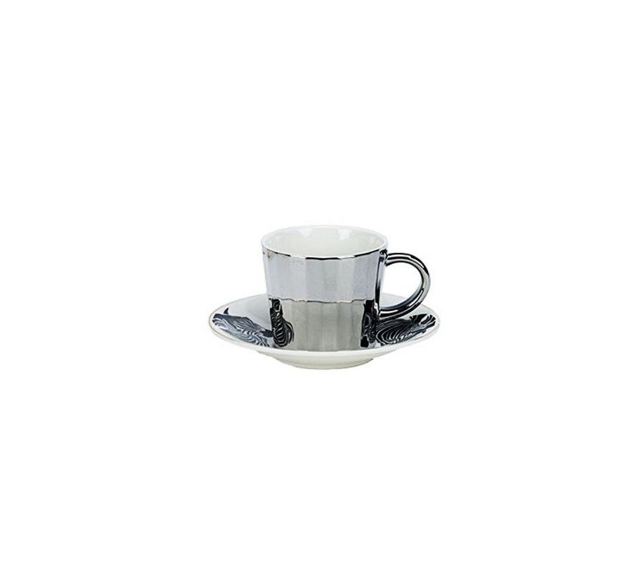 Bricard koffie set - Malia - Light Gold 12-delig
