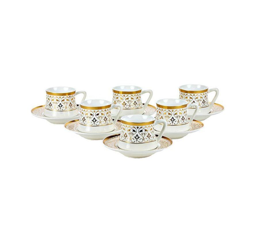 Bricard Ottoman koffie set - Konya -  12-delig