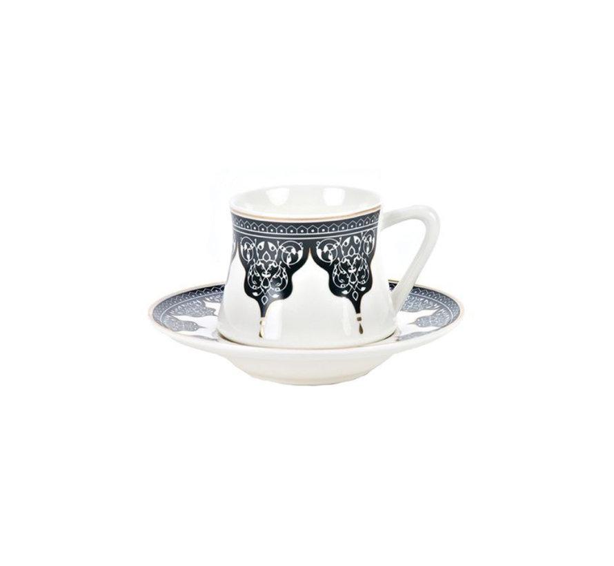 Bricard Ottoman koffie set - Bursa -  12-delig