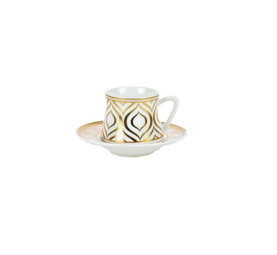 Bricard Ottoman koffie set - Adana-  12-delig