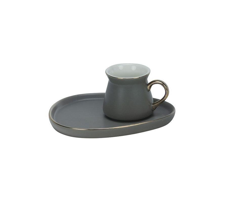 Bricard Oval espresso set - Cartagena -  Grey 12-delig
