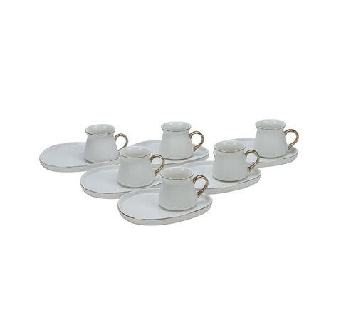 Bricard Bricard Oval espresso set - Cartagena -  White 12-delig