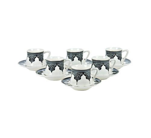 Bricard Bricard Ottoman thee-espresso set - Bursa -  18-delig