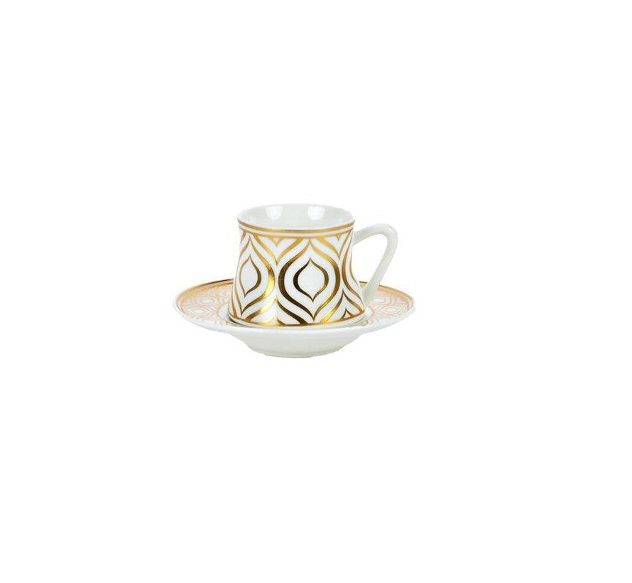 Bricard Ottoman thee-espresso set - Adana -  18-delig