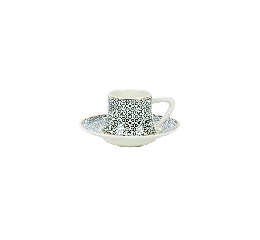Bricard Ottoman thee-espresso set - Kayseri -  18-delig