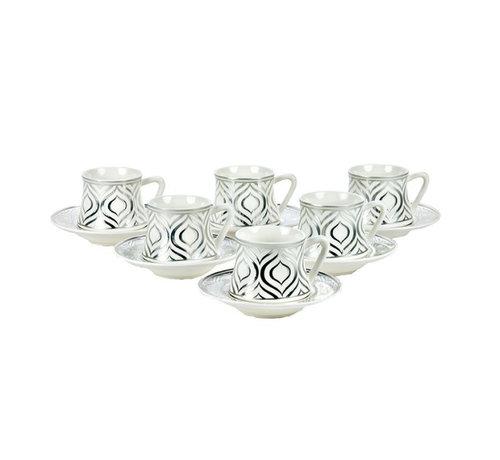 Bricard Bricard Ottoman thee-espresso set - Adana - Silver 18-delig