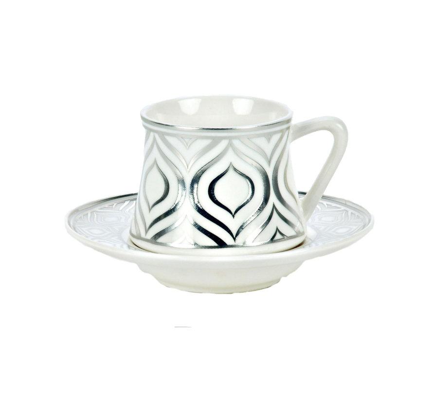 Bricard Ottoman thee-espresso set - Adana - Silver 18-delig