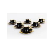 Bricard Bricard thee-espresso set - Lima - Black 24-delig