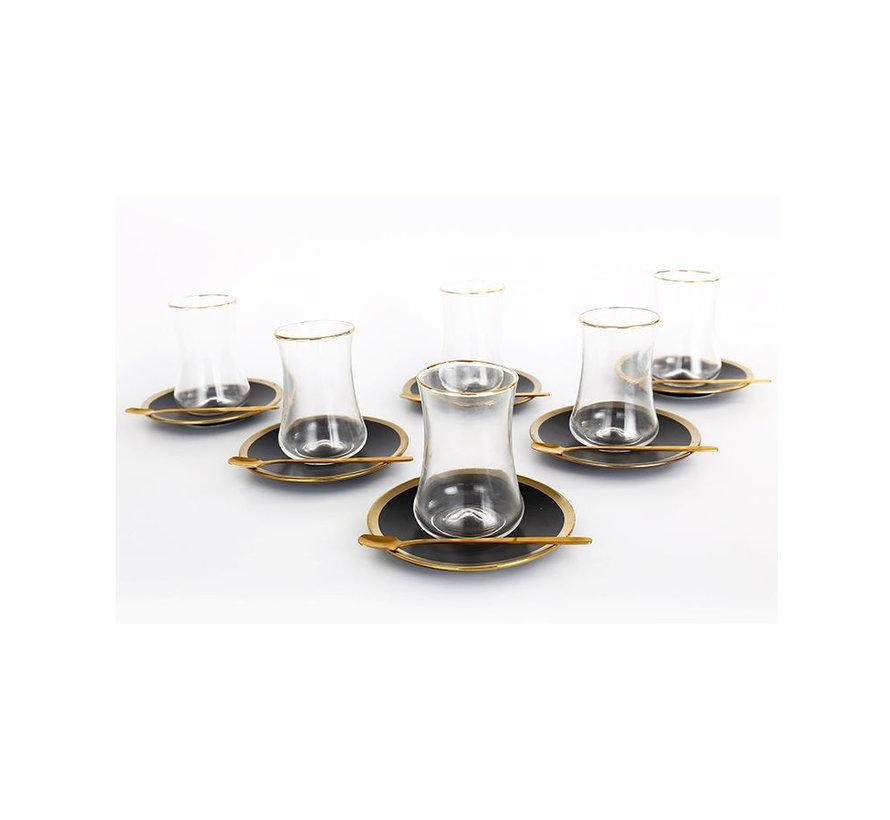 Bricard thee-espresso set - Lima - Black 24-delig
