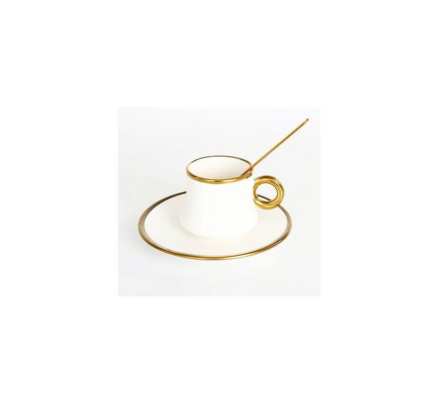 Bricard thee-espresso set - Lima - White 24-delig