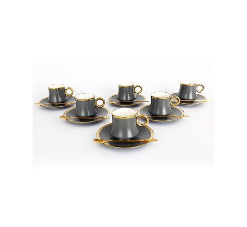 Bricard Bricard thee-espresso set - Lima - Grey 24-delig