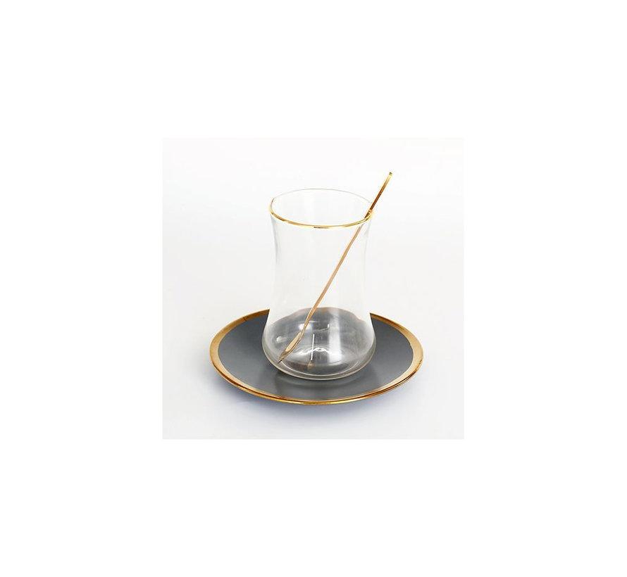 Bricard thee-espresso set - Lima - Grey 24-delig