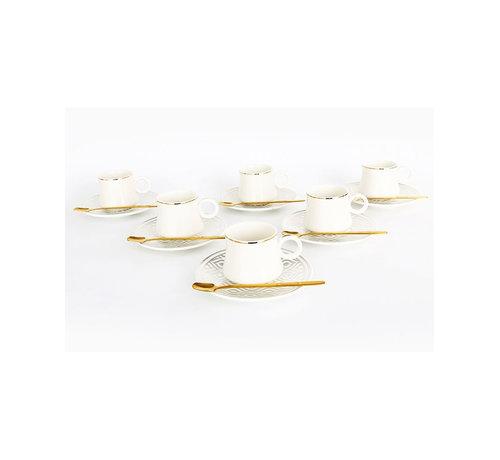 Bricard Bricard thee-espresso set - Tangier - Silver 24-delig