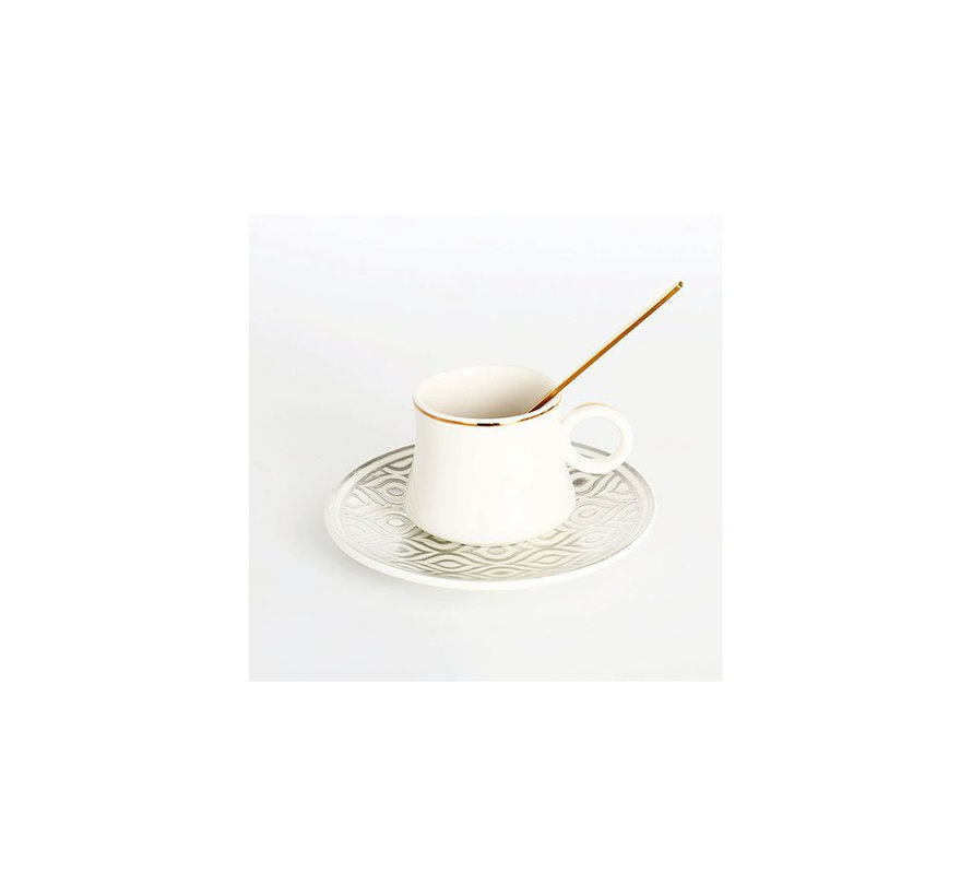 Bricard thee-espresso set - Tangier - Silver 24-delig