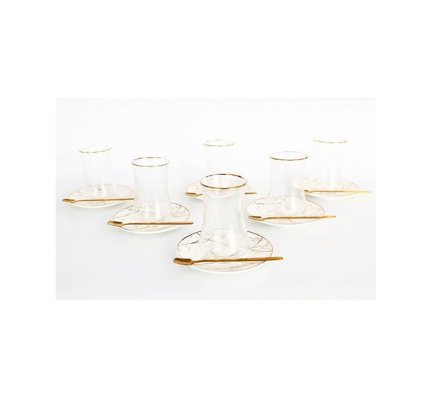 Bricard thee-espresso set - Athens - Gold 24-delig