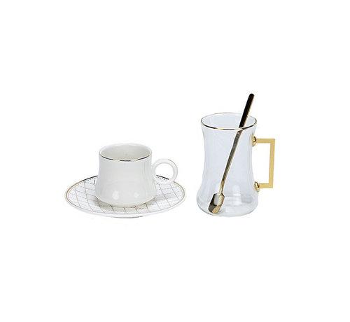 Bricard Bricard Plus thee-espresso set - Almeria - 24-delig