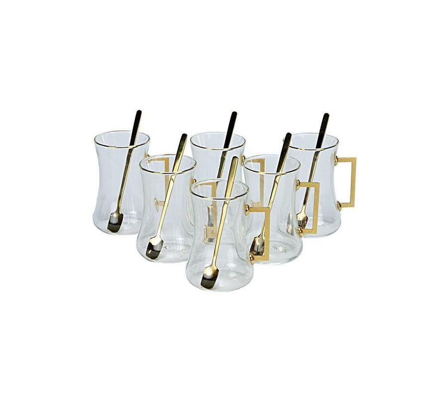 Bricard Plus thee-espresso set - Almeria - 24-delig