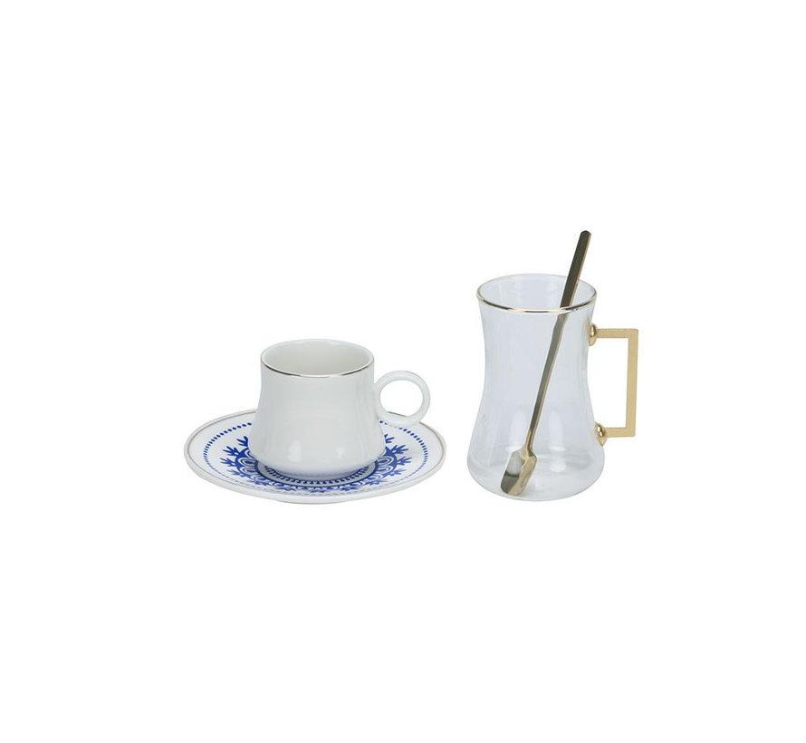 Bricard Plus thee-espresso set - Marseille - 24-delig