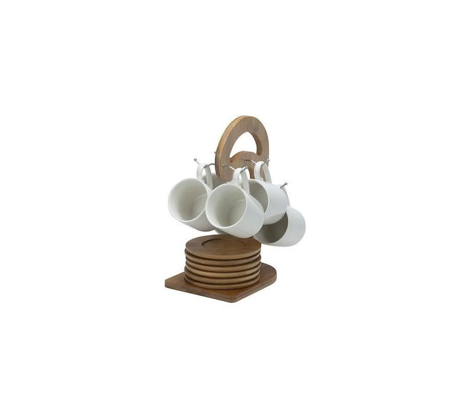 Bricard mokkenset klein- Geneva -  White 25-delig