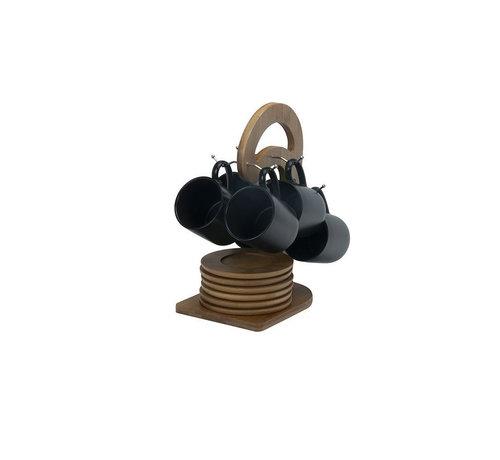 Bricard Bricard mokkenset klein- Geneva -  Black 25-delig