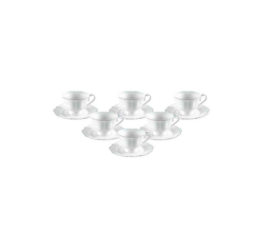 Bricard Arras koffieset - Menton  - White 12-delig