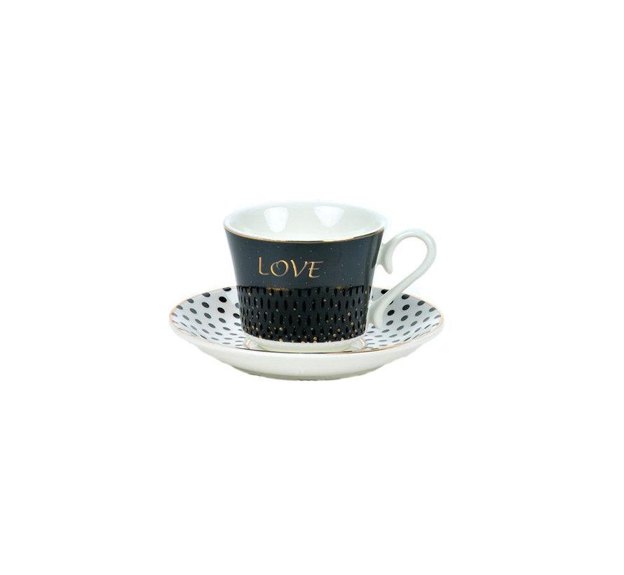 Bricard espresso set - Amour -  12-delig