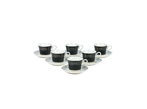 Bricard Bricard espresso set - Amour -  12-delig