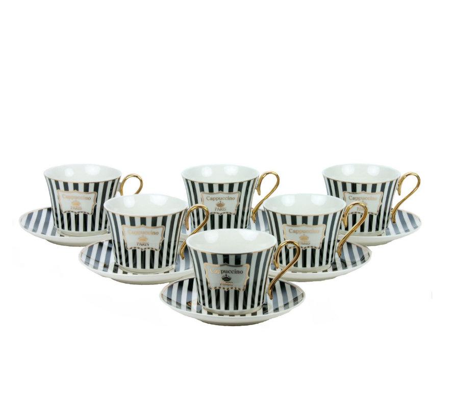 Bricard koffieset - Parisien -  12-delig
