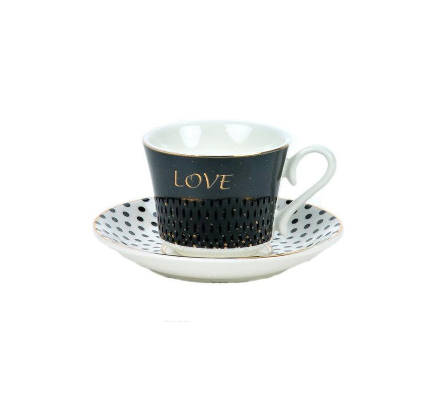 Bricard koffieset - Amour -  12-delig