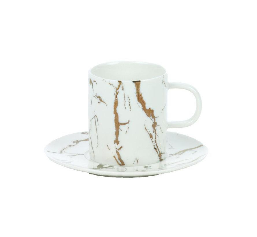 Bricard koffieset - Denia -  White 12-delig