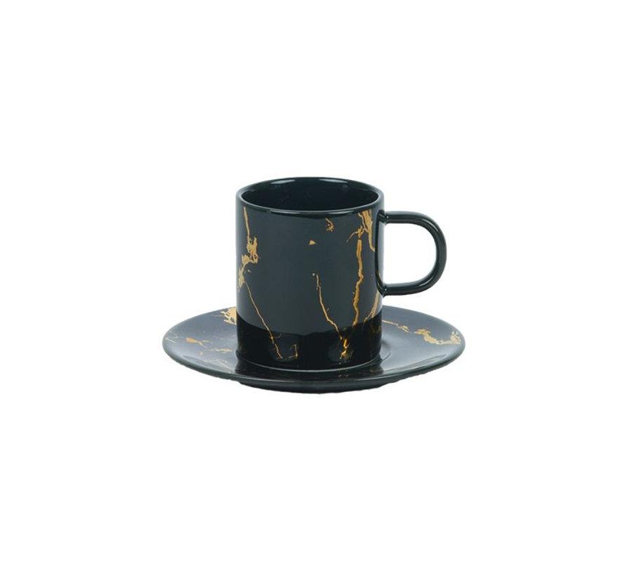 Bricard koffieset - Denia -  Black 12-delig
