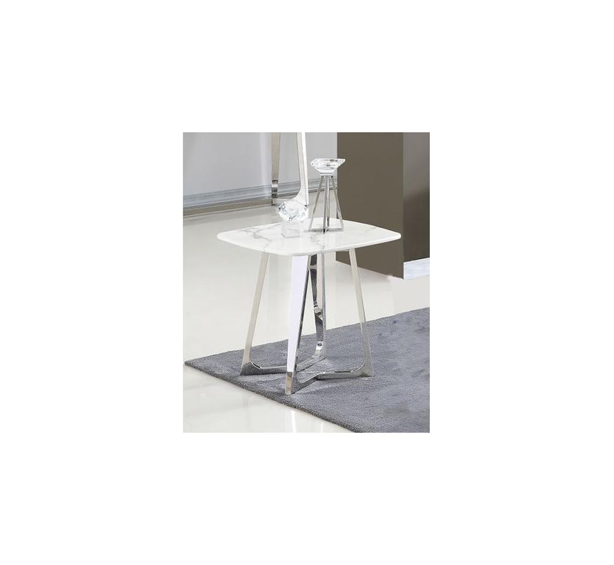 Bari bijzettafel - Aerenia - Zilver/Marmer