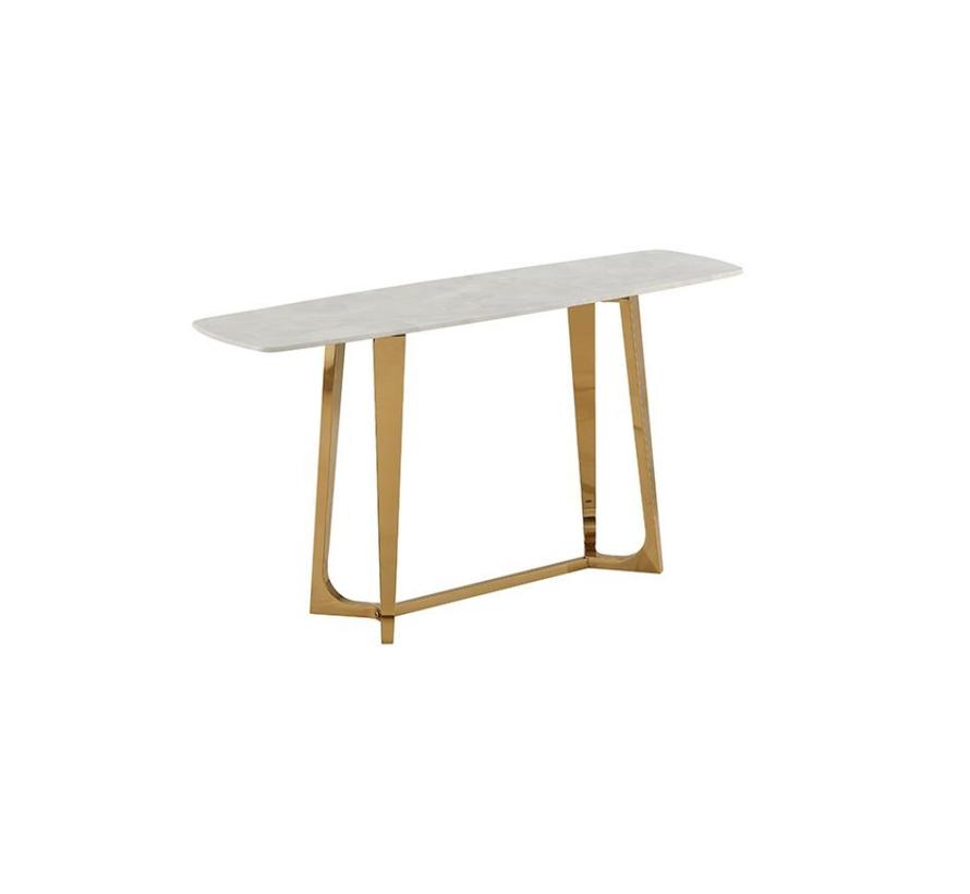 Bari consoletafel - Aerenia - Goud/Marmer