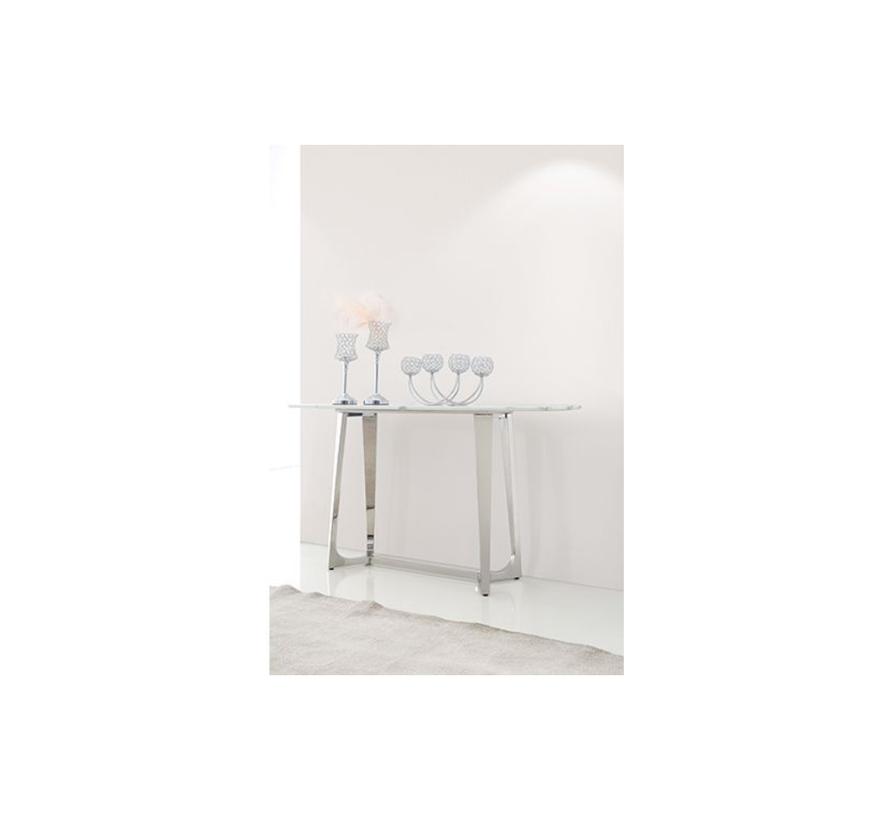 Bari consoletafel - Aerenia - Zilver/Marmer